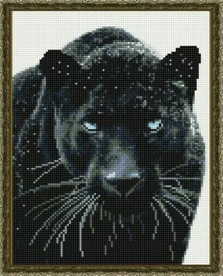 Алмазная мозаика ВанГогВоМне EQ 10363 Черная хищница 30х40 см