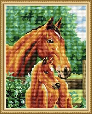 Алмазная мозаика ВанГогВоМне EQ 10149 Рыжие лошади 30х40 см