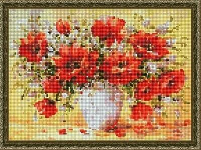 Алмазная мозаика ВанГогВоМне EQ 10287 Аромат красных маков 30х40 см