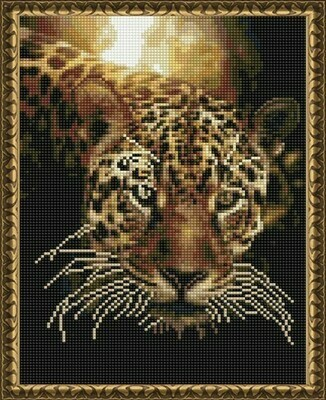 Алмазная мозаика ВанГогВоМне EQ 10367 Гепард на закате 30х40 см