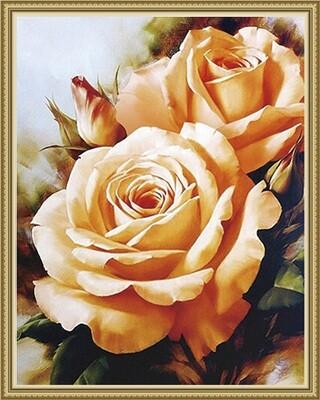 Алмазная мозаика ВанГогВоМне EW 10140 Чайные розы 40х50 см