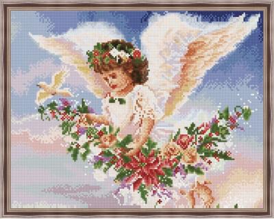 Алмазная мозаика ВанГогВоМне EW 10340 Летящий ангел 40х50 см