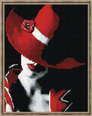 Алмазная мозаика ВанГогВоМне EW 10381 Красная шляпка 40х50 см