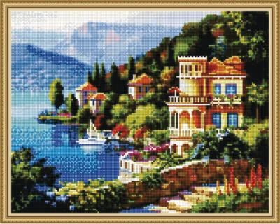 Алмазная мозаика ВанГогВоМне EW 10382 Средиземноморье 40х50 см
