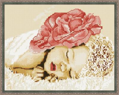 Алмазная мозаика ВанГогВоМне EW 10006 Спящий цветок 40х50 см