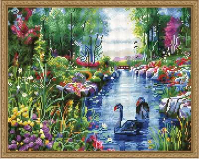 Алмазная мозаика ВанГогВоМне EW 10402 Райский сад 40х50 см