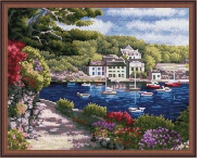 Алмазная мозаика ВанГогВоМне EW 10027 Городок у моря 40х50 см
