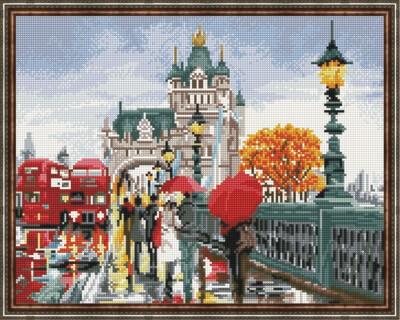 Алмазная мозаика ВанГогВоМне EW 10300 Лондон осенью (алм.) 40х50 см
