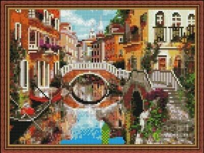 Алмазная мозаика ВанГогВоМне EQ 10343 Мосты Венеции 30х40 см
