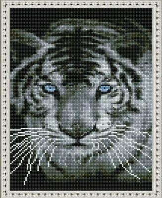 Алмазная мозаика ВанГогВоМне EQ 10365 Взгляд белого тигра 30х40 см
