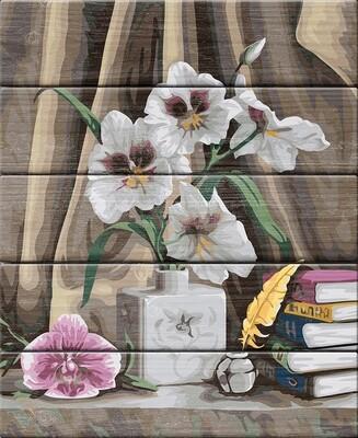 """Картина по номерам по дереву """"Элегантные орхидеи"""", 40х50см, ФРЕЯ, PKW-1 54"""
