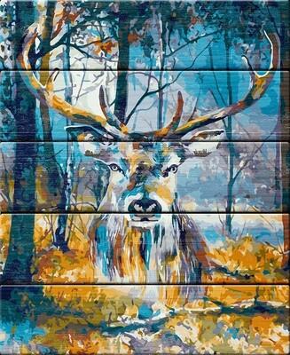 "Картина по номерам по дереву ""Таинственный лес"", 40х50см, ФРЕЯ, PKW-1 83"