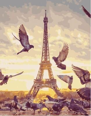 Картина по номерам PK 49024 Парижские голуби 40х50см