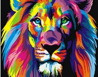 Картина по номерам RADUGA, 40х50см - Радужный лев