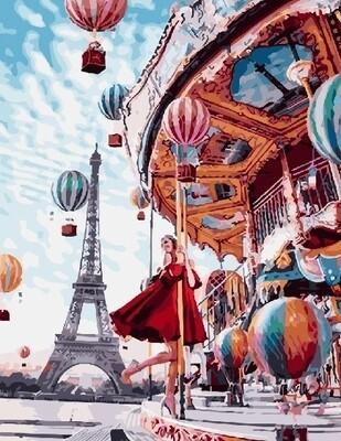 Картина по номерам RADUGA, 40х50см - Праздничный Париж