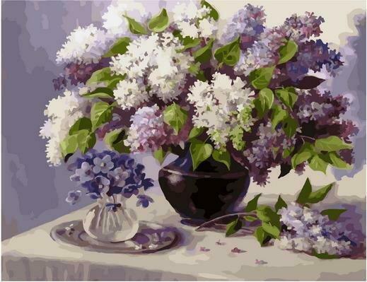 Картина по номерам PK 79008 Сиреневый май (Воробьёва Ольга) 40х50см