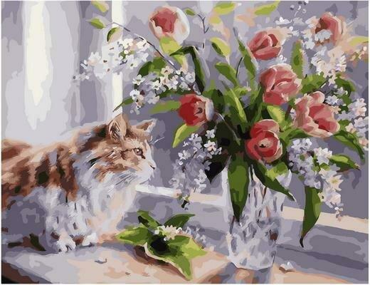Картина по номерам PK 79009 А за окном весна (Воробьёва Ольга) 40х50см