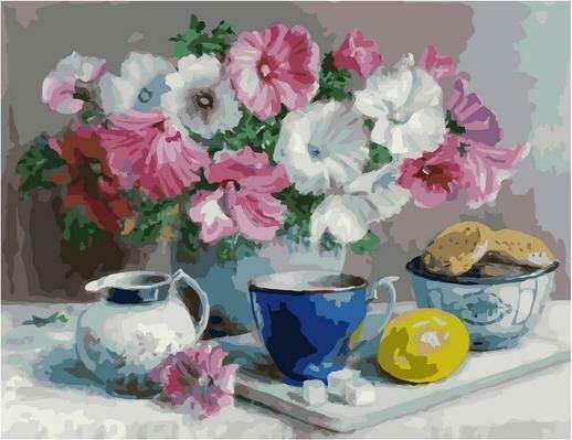 Картина по номерам PK 79026 Летний чай (Воробьёва Ольга) 40х50см