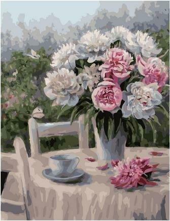 Картина по номерам PK 79039 Пионы на столе (Воробьёва Ольга) 40х50см