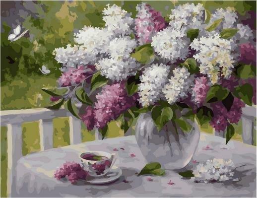Картина по номерам PK 79049 Сиреневая весна (Воробьёва Ольга) 40х50см