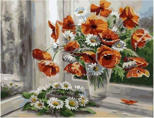 Картина по номерам PK 79058 Цветочная рапсодия (Воробьёва Ольга) 40х50см
