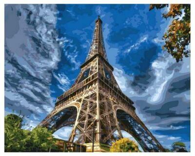 Картина по номерам Paintboy GX 37682 Эйфелева башня 40x50см