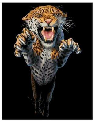 Картина по номерам Paintboy GX 37755 Ярость гипарда 40x50см