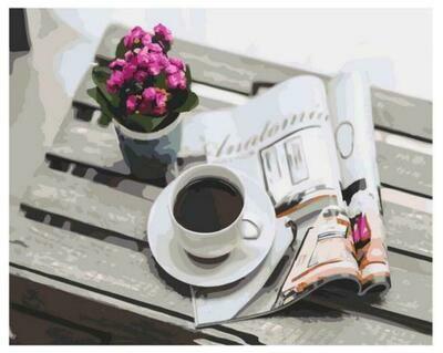 Картина по номерам Paintboy GX 37912 Утренний кофе 40x50см
