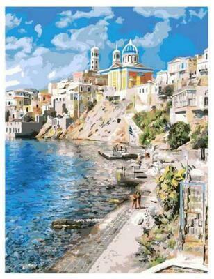 Картина по номерам Paintboy GX 37903 Красивая Греция 40x50см