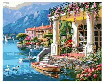 Картина по номерам Paintboy GX 37902 Вилла у моря 40x50см