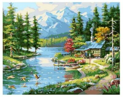 Картина по номерам Paintboy GX 37768 Горный пейзаж 40x50см