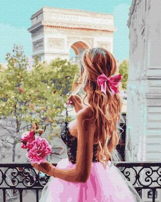 "Картины по номерам 40х50см ""Девушка на балконе"" ВанГогВоМне, ZX 23341"