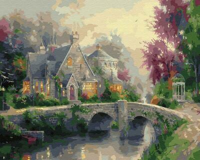 """Картины по номерам 40х50см """"Дом у каменного моста"""" ВанГогВоМне, ZX 23271"""