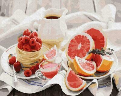 """Картины по номерам 40х50см """"Утренний натюрморт"""" ВанГогВоМне, ZX 22912"""