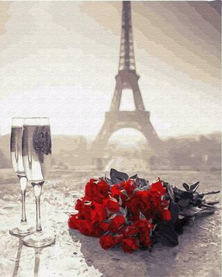 """Картины по номерам 40х50см """"Розы в Париже"""" ВанГогВоМне, ZX 22923"""
