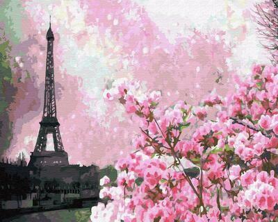 """Картины по номерам 40х50см """"Париж в розовом"""" ВанГогВоМне, ZX 23469"""