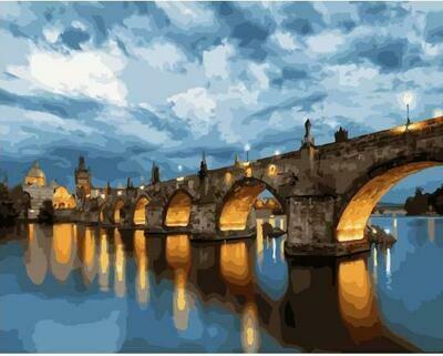 "Картины по номерам 40х50см ""Прага. Карлов мост"" ВанГогВоМне, ZX 23238"