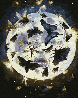 "Картины по номерам 40х50см ""Лунные бабочки"" ВанГогВоМне, ZX 23291"