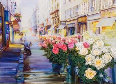 """Набор для вышивания """"PANNA"""" """"Живая картина"""" JK-2021 ( ЖК-2021 ) """"Цветы Парижа"""""""
