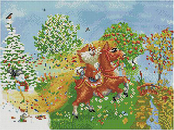 Алмазная мозаика Paintboy ACPK 76001 На коне (Долотов Алексей) 30*40