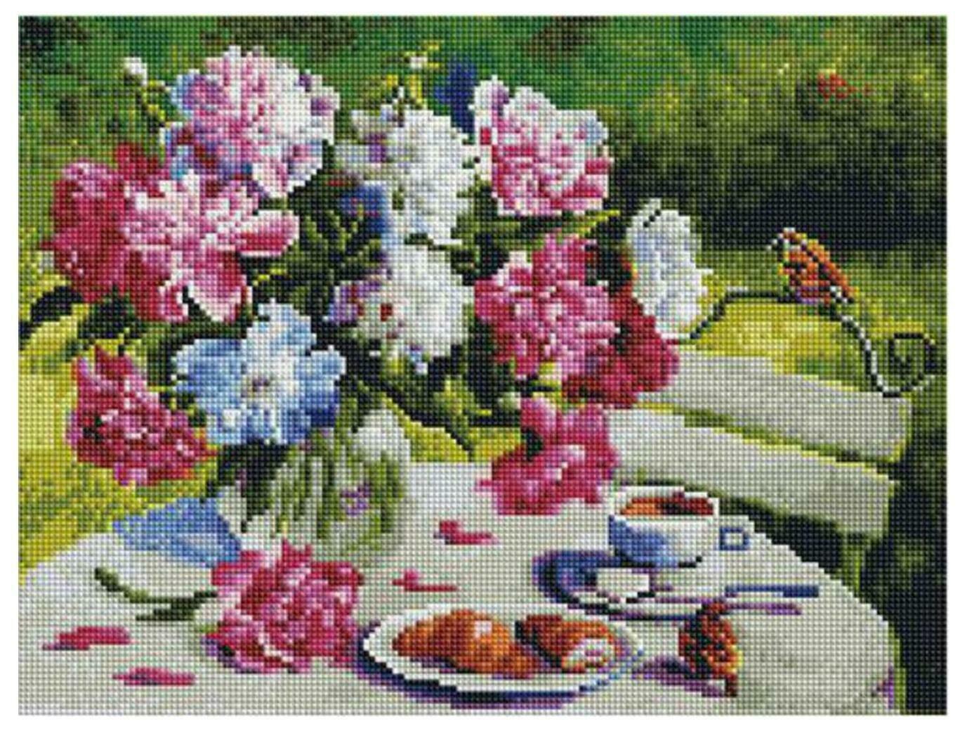 Алмазная мозаика Paintboy ACPK 79004 Пионовое утро (Воробьёва Ольга) 30*40