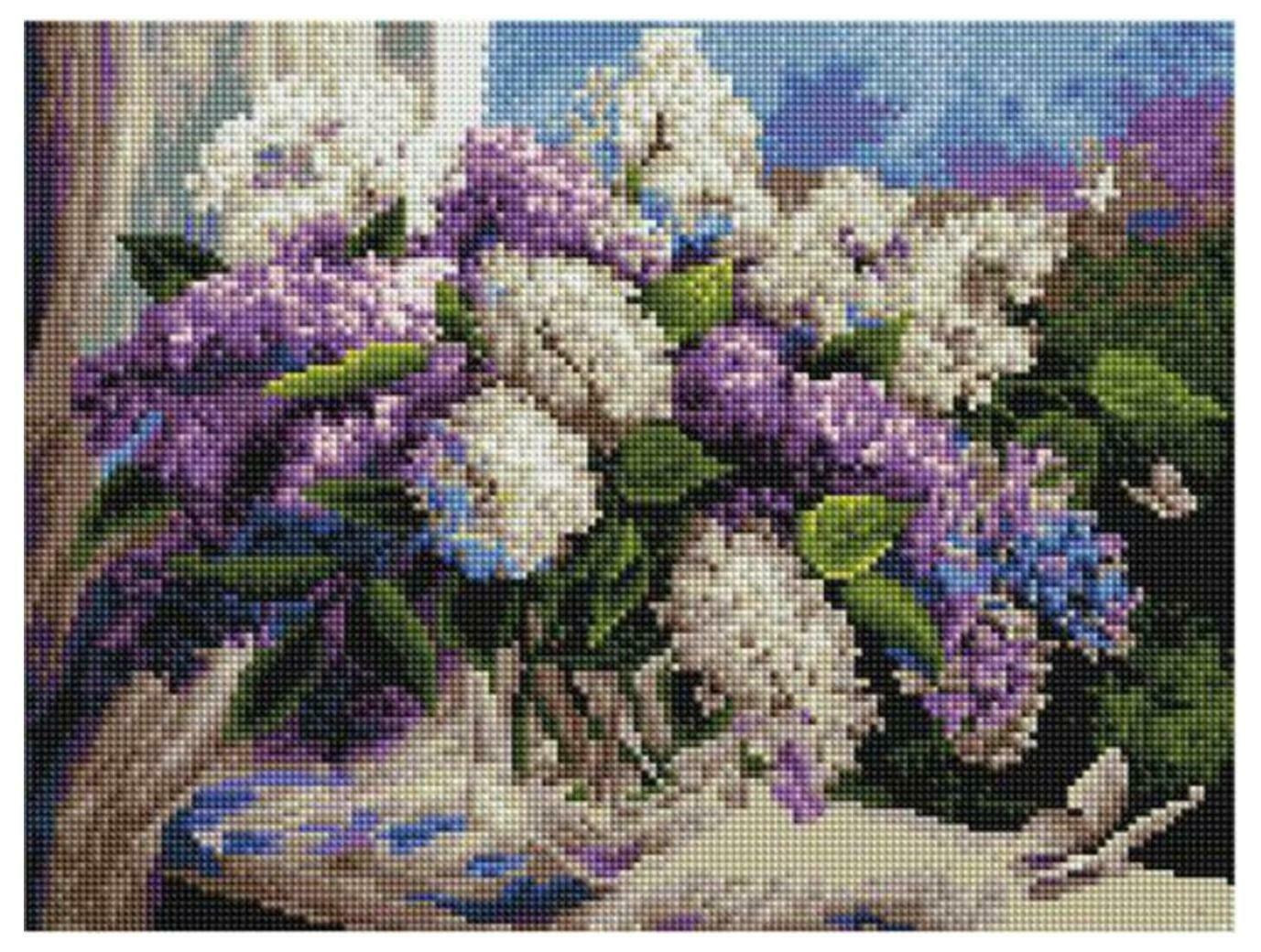 Алмазная мозаика Paintboy ACPK 79005 Полет в сиреневую весну (Воробьёва Ольга) 30*40