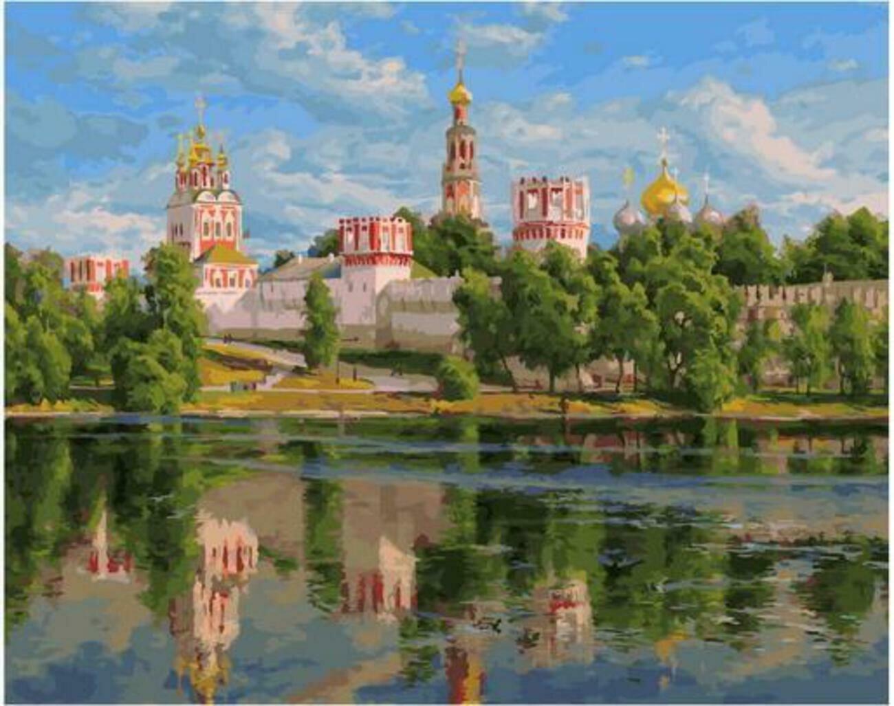 Картина по номерам Paintboy Original PK 90007 Новодевичий монастырь (Басов Сергей) 40x50см