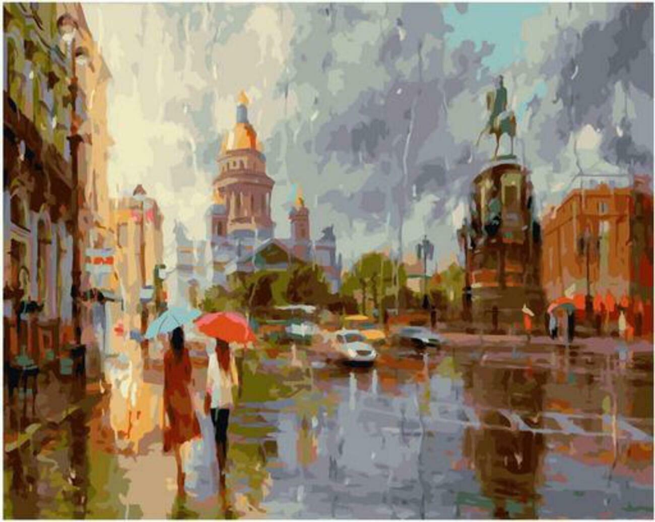 Картина по номерам Paintboy Original PK 90028 Летний дождь в Питере (Ковалев Владимир) 40x50см