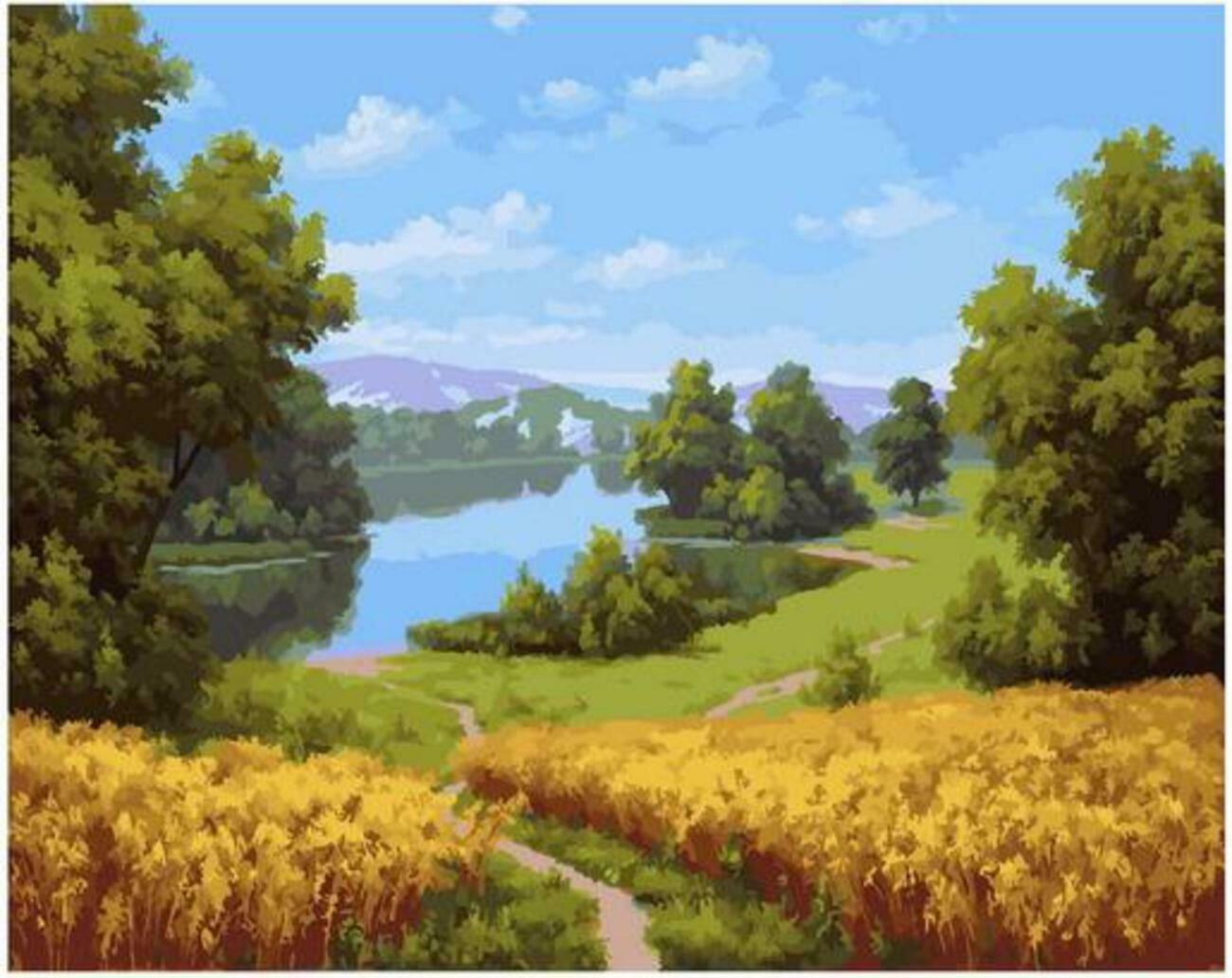 Картина по номерам Paintboy Original PK 90016 Хлеба зреют (Бабичев В.) 40x50см