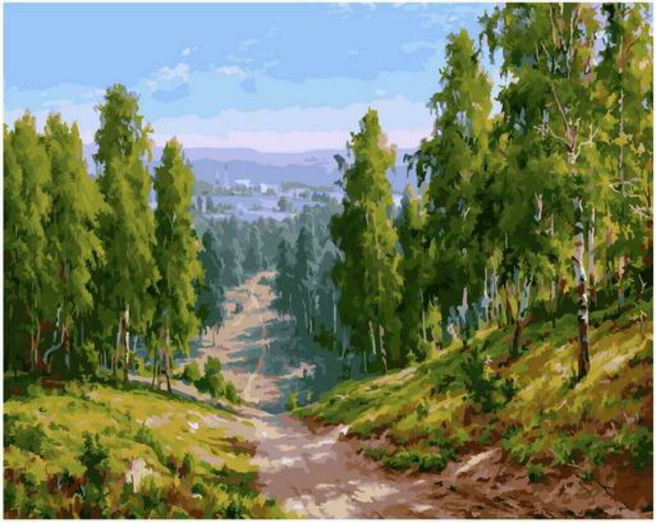 Картина по номерам Paintboy Original PK 90004 Глубинка (Басов Сергей) 40x50см