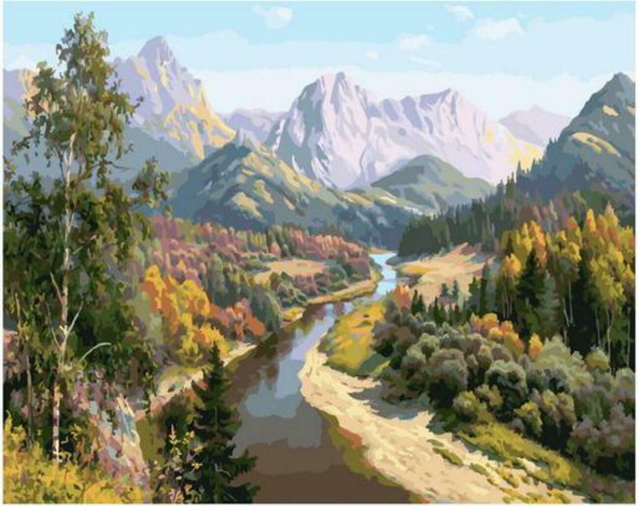Картина по номерам Paintboy Original PK 90013 Осень в горах (Басов Сергей) 40x50см