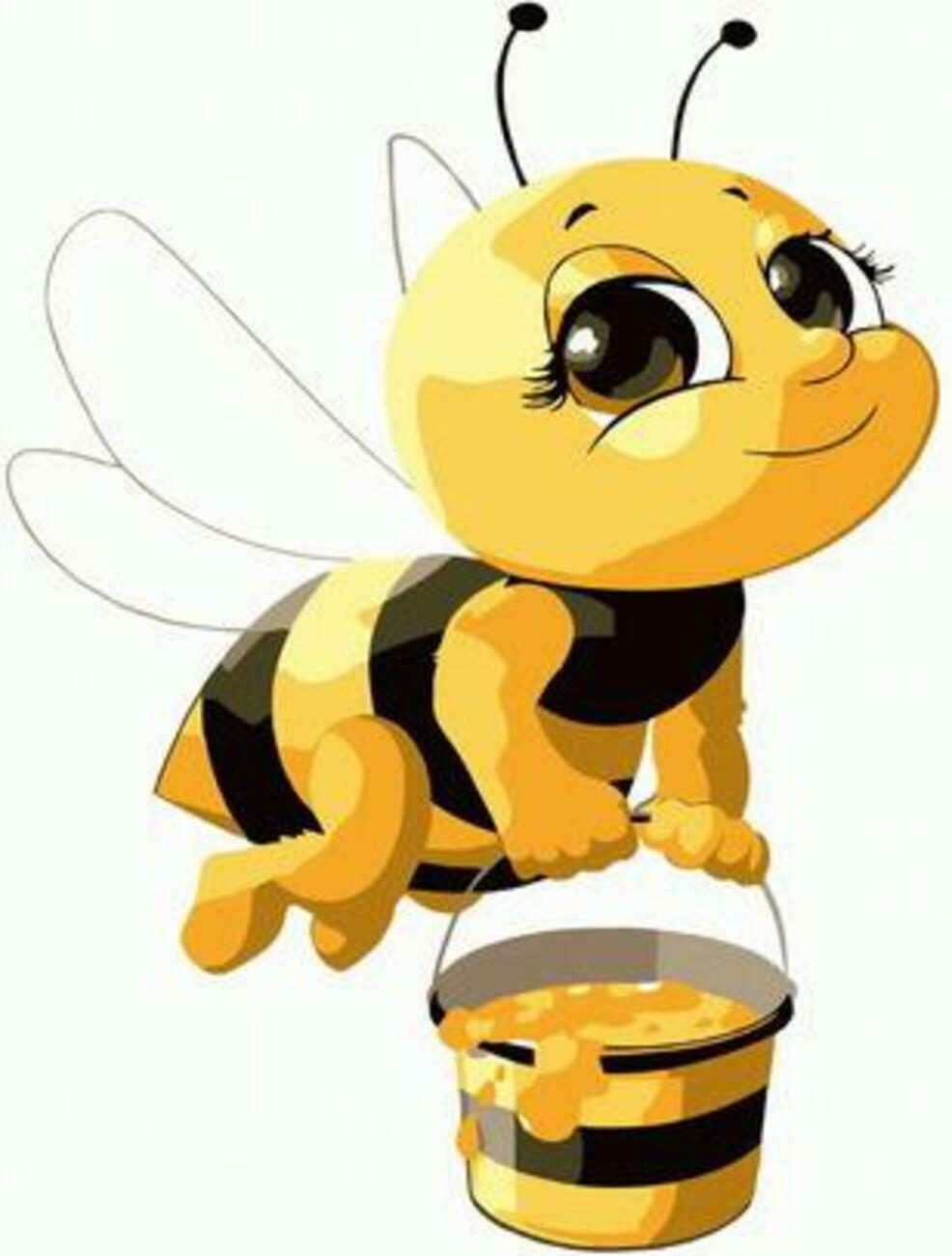 Картина по номерам Paintboy Original PKD 72064 Трудолюбивая пчелка 20*30