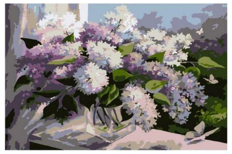 Картина по номерам Paintboy Original PKD 79005 Полет в сиреневую весну (Воробьёва Ольга) 20*30