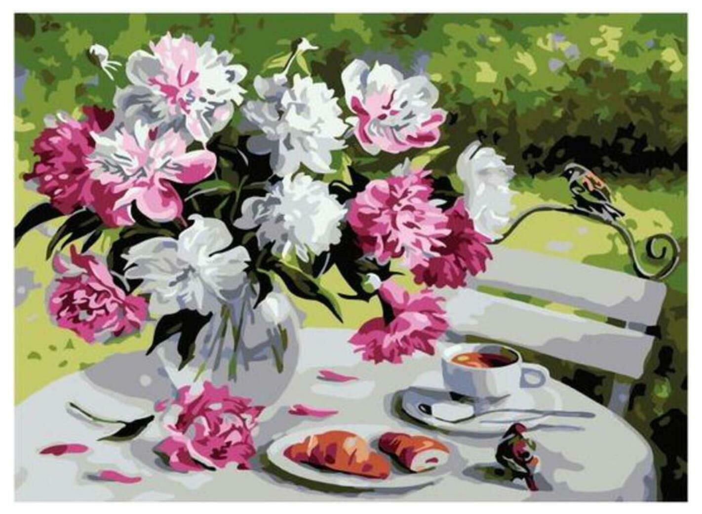 Картина по номерам Paintboy Original PKC 79004 Пионовое утро (Воробьёва Ольга)30*40